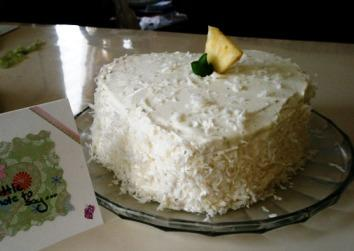 Lemon Layer Cake With Pineapple Filling