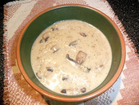 Swiss-Barley Mushroom Soup