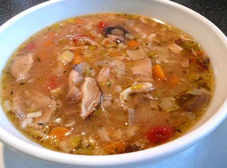 Chicken Mushroom Barley Soup