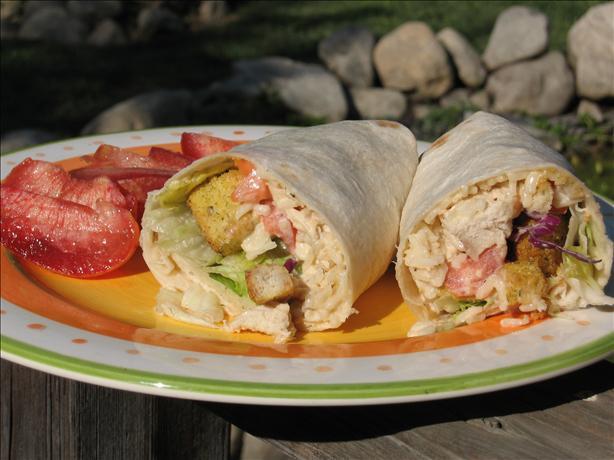 Warm Chicken Caesar Wraps