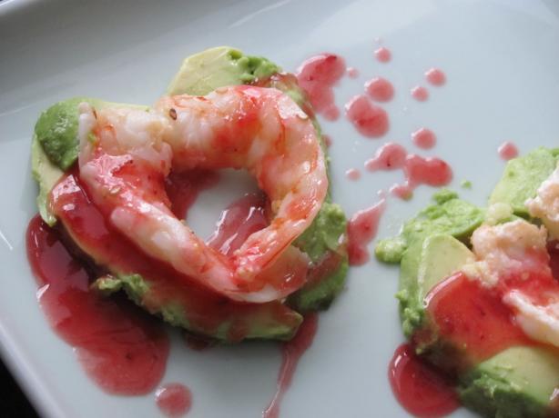 Sesame Shrimp Hearts With Passion Sauce