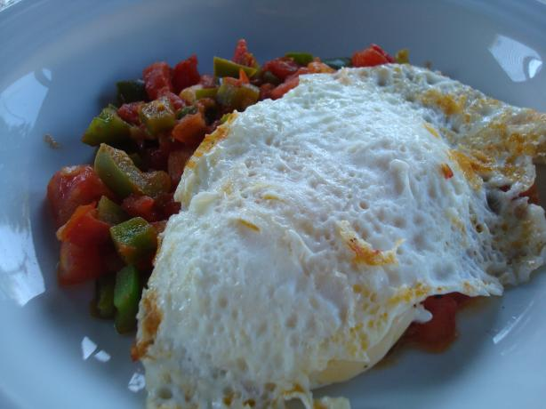 Tastira (Tunisian Fried Peppers and Eggs)