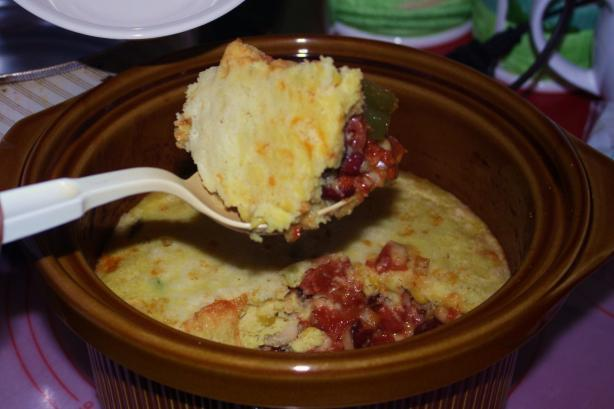 Bean and Cornbread Casserole (Crock Pot)