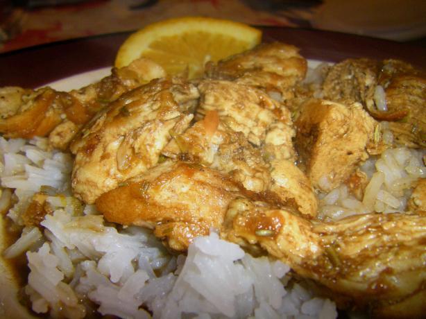 Chicken in Balsamic, Orange & Rosemary Sauce