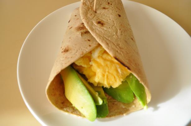Nif's Avocado and Egg Breakfast Wrap