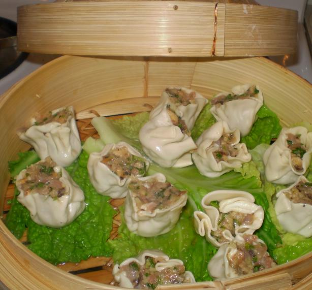 Chicken and Green Onion Dumplings W/ Balsamic Soy Dipping Sauce