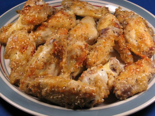 Baked Sesame Parmesan Chicken Drumsticks (Or Wings)