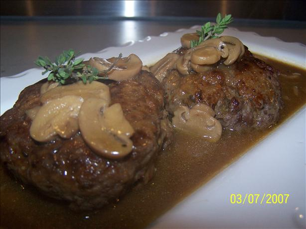 Salisbury Steak With Mushroom Gravy