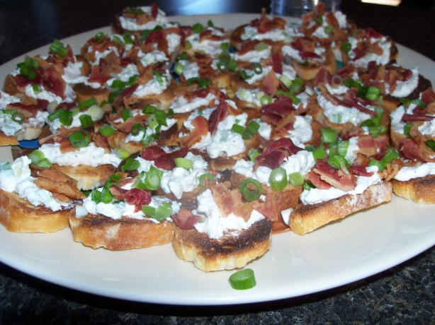 Green Onion and Bacon Crostini