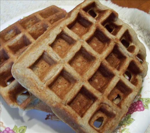 Rustic Cardamom Waffles W/ Cherry Cream