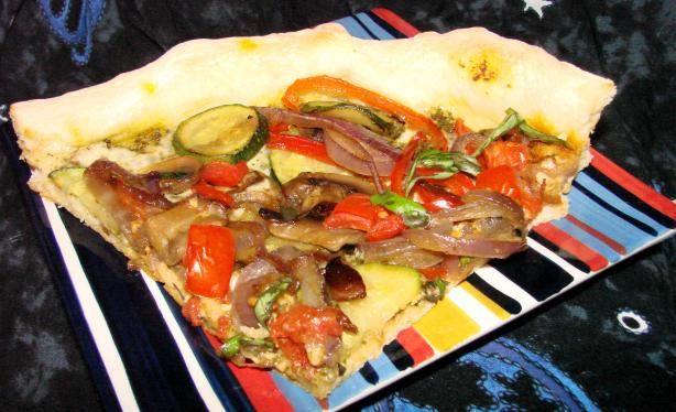 Four-Veggie Pizza(Flat Belly Diet Recipe)