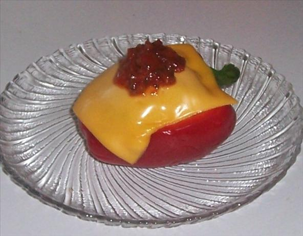 Stuffed Red Bell Peppers With Tuna