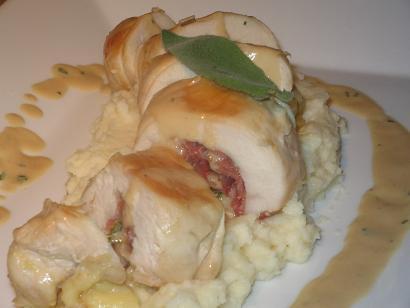 Italian Stuffed Chicken Breast With a Marsala Sauce
