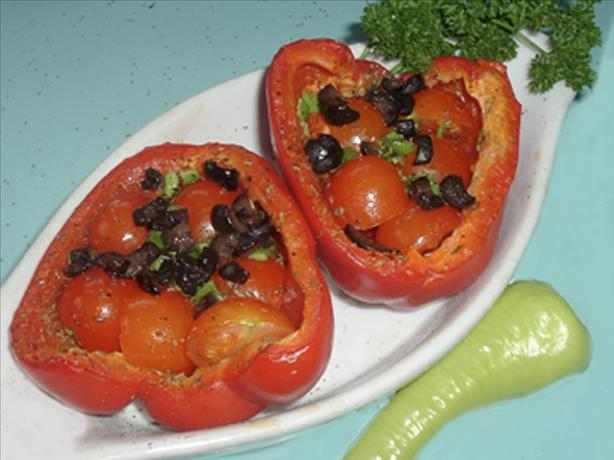 Provencal Tomato Stuffed Bell Peppers