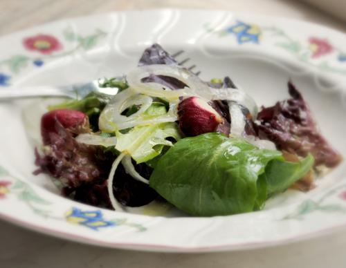 German/Bavarian Chopped Green Salad Mit Borretsch
