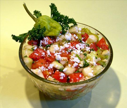 Moldovan Tomato, Cucumber & Pepper Salad