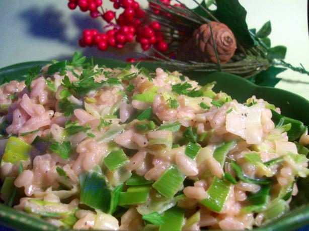Leek and Green Garlic Risotto