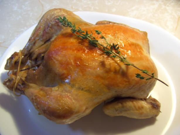 Thyme and Garlic Roast Chicken
