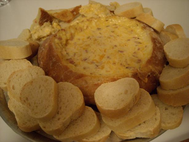 Awesome Cheese Dip in Bread Bowl