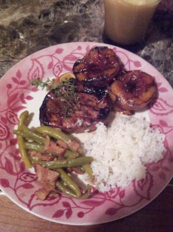 Grilled Chicken With Balsamic Peach Marinade