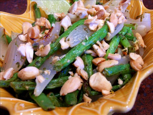Lime-Roasted Green Beans With Marcona Almonds