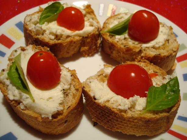 Can-Can Canapés! Boursin Baguette Bruschetta