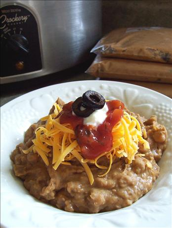 Crock Pot Fat Free Refried Beans for the Freezer - OAMC