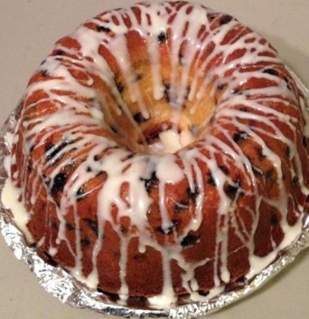 Blueberry Cream Cheese Pound Cake