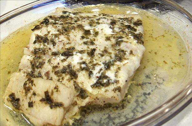 Herb Butter for Fish Fillets (Flounder) Baked or Broiled