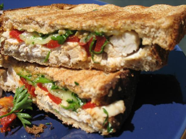 Turkey and Roasted Red Pepper Panini