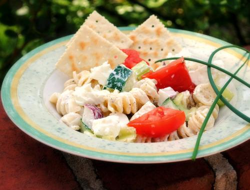 Kittencal's Creamy Greek-Style Pasta Salad