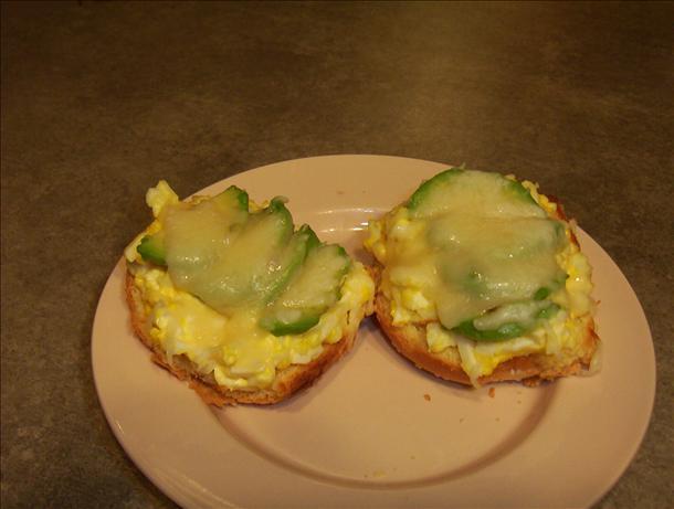 Avocado & Egg Salad Open Faced Sandwich