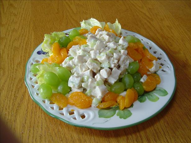 Mandarin Chicken Salad with Orange Juice Dressing