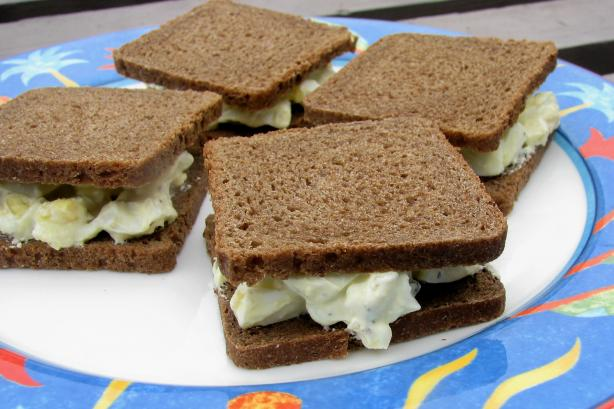Perfect Egg Salad Finger Sandwiches