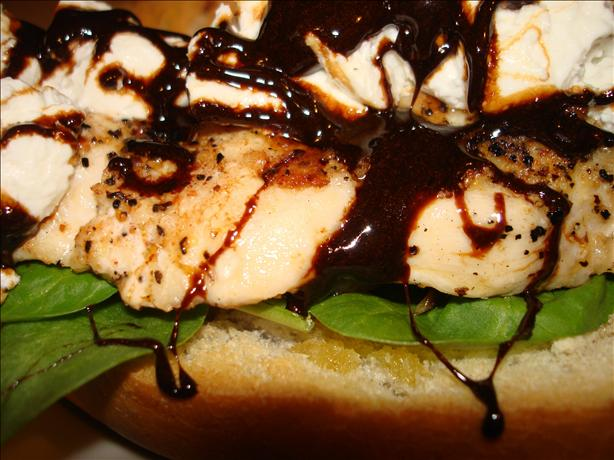 Balsamic-Glazed Chicken Sandwiches With Goat Cheese