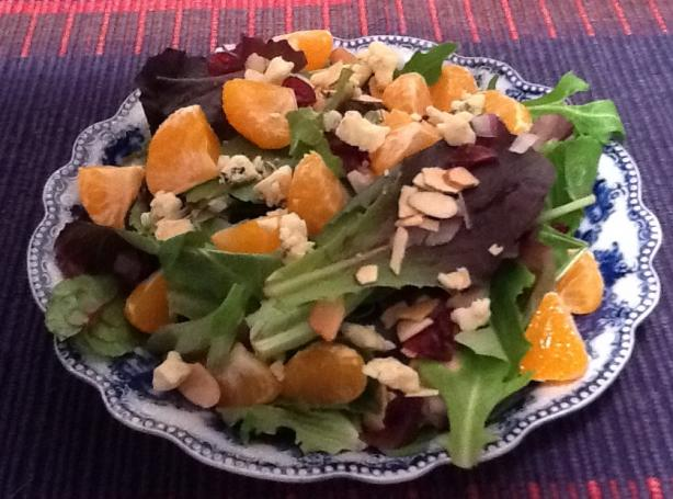 Satsuma Oranges, Dried Cranberries & Blue Cheese Salad