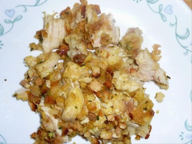 Easy Chicken and Stuffing Casserole
