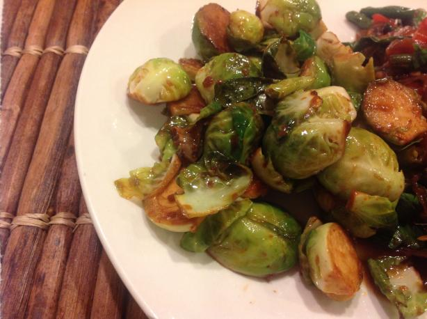 Soy and Sriracha Glazed Brussels Sprouts