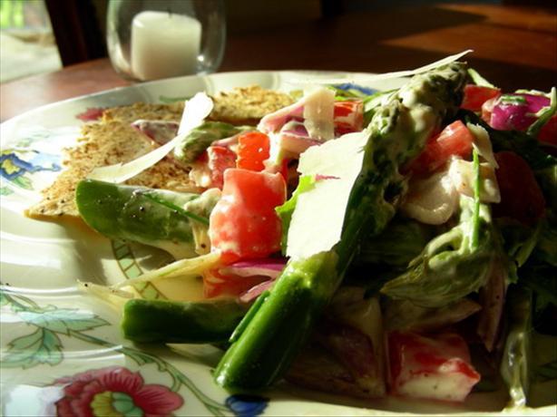 Asparagus & Tomato Salad W/Yoghurt Dressing (#6)