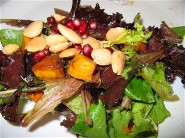 Roasted Butternut Squash, Marcona Almond & Pomegranate Salad