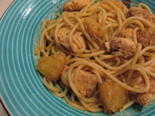 Joel's Jerk Chicken Pineapple Pasta