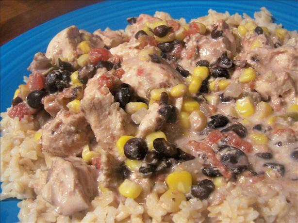 Crock Pot Chicken With Black Beans in Cream Sauce
