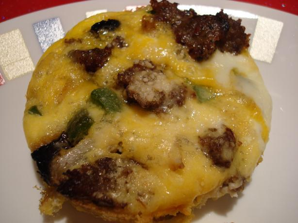 South Beach Diet Sausage Veggie Breakfast Muffins