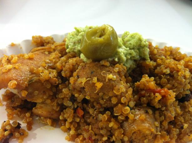 Arroz Con Pollo With Salsa Verde (Rice and Chicken Casserole)