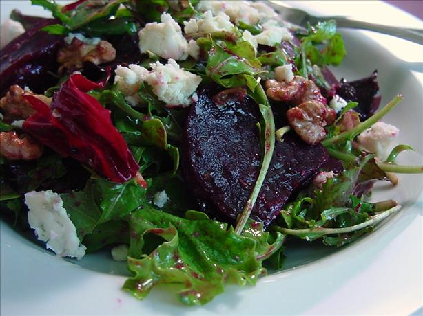 Roasted Beet Salad With Raspberry Balsamic Vinaigrette