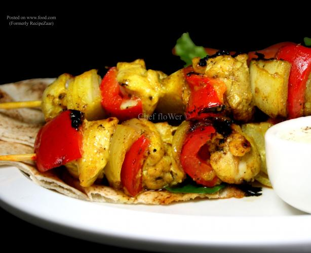 Lemony Moroccan Style Chicken Kebabs