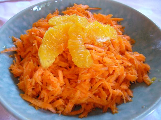 Morrocan Grated Carrot Salad With Orange