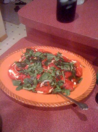 Tomato and Fresh Mozzarella Salad With Arugula & Peppers
