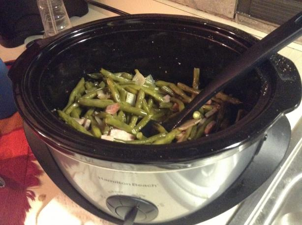 Crock Pot Green Beans & Bacon
