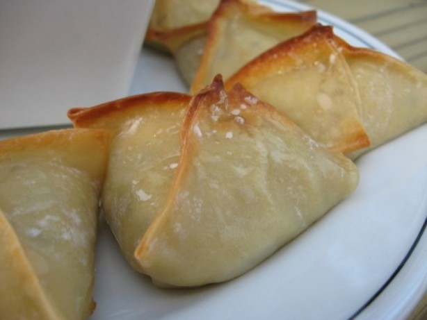 Baked Pot Stickers- Sweet Asian Dipping Sauce - Chicken Egg Roll